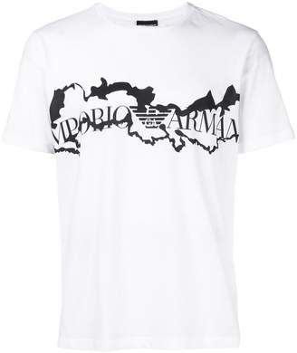 Emporio Armani rip print T-shirt
