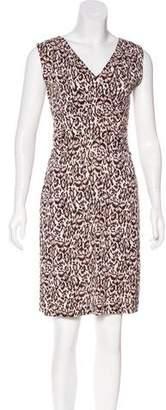 Diane von Furstenberg Silk Leopard Print Dress