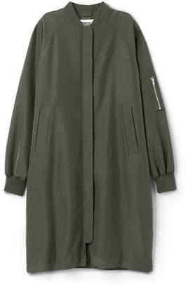 Weekday Long Bomber Coat - Green