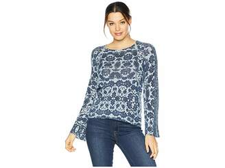 Lucky Brand Damask Pullover Sweater