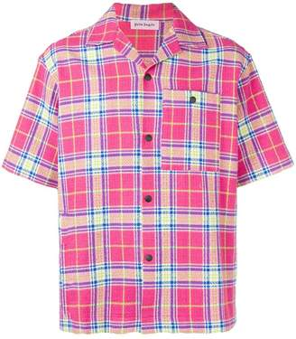 Palm Angels shortsleeved plaid shirt