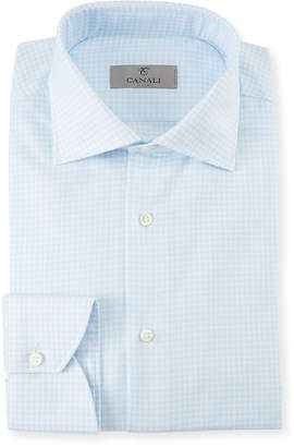 Canali Men's Gingham Cotton Dress Shirt