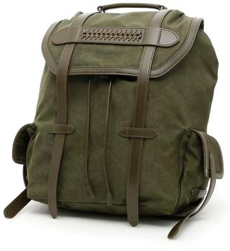 Stella McCartney Exo Waxed Fabric Falabella Backpack