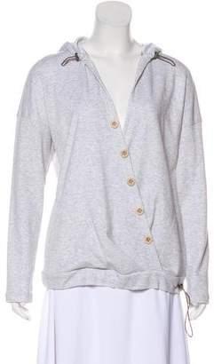 Brunello Cucinelli Hooded Surplice Sweatshirt