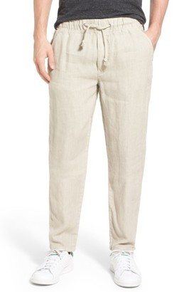 Men's Original Paperbacks 'San Juan' Drawstring Linen Pants $159 thestylecure.com