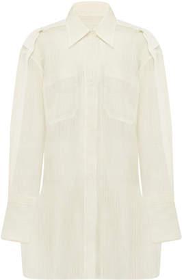 LEE MATHEWS Lotte silk organza shirt