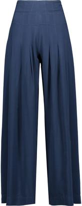 Vix Meidy jersey wide-leg pants $188 thestylecure.com