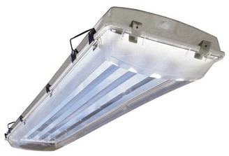Howard Lighting 6-Light Vapor Proof High Bay Fluorescent Light Fixture Howard Lighting