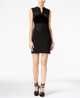 GUESS Elora Lace Contrast Sheath Dress $108 thestylecure.com