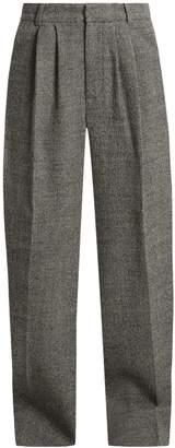 Raey Wide-leg wool-tweed trousers