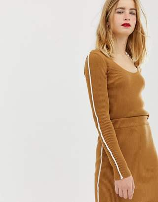 Asos DESIGN two-piece sweater in rib with tipping