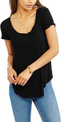 Generic Women's Short Sleeve Crewneck Hi-Lo Tunic-Length T-Shirt