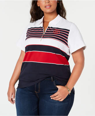 Tommy Hilfiger Plus Size Zippered Polo