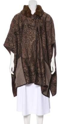 Etro Fur-Trimmed Paisley Coat