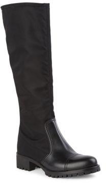 pradaPrada Nero Tall Nylon & Leather Boots
