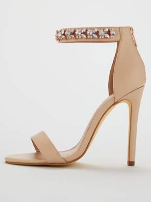 b1ecaab3ec47 Very Bae Jewel Ankle Strap High Minimal Sandal - Nude