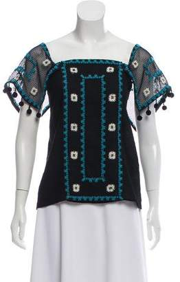 Ramy Brook Brooklyn Embroidered Top