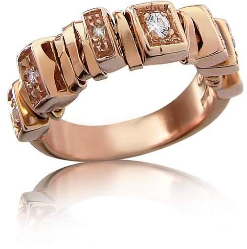 Orlando Orlandini Sole - Diamond 18K Rose Gold Band Ring