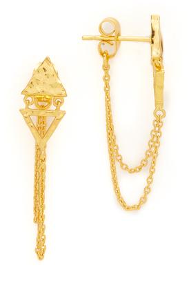 Gorjana Arden Chain Loop Stud Earrings $48 thestylecure.com