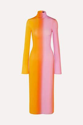Ellery Bach Dégradé Stretch-satin Midi Dress - Yellow