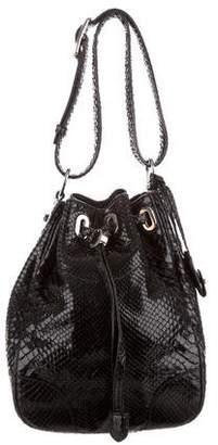 Ralph Lauren Python Shoulder Bucket Bag