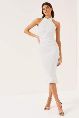 Next Lipsy Halter Neck Sequin Appliqué Bodycon Dress - 6