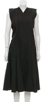 Hache Sleeveless Midi Pleated Dress