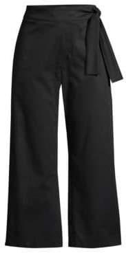 Piazza Sempione Women's Cropped Tie-Waist Pants - Black - Size 40 (4)