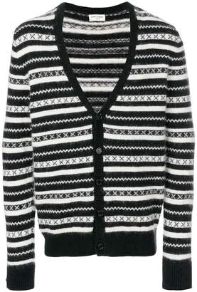 Saint Laurent striped print cardigan