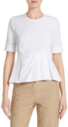 Women's Veronica Beard Cotton Peplum Top $275 thestylecure.com