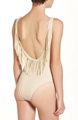 Women's Rip Curl 'Joyride' Fringe One-Piece Swimsuit $69.50 thestylecure.com