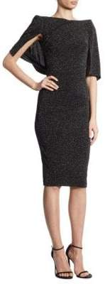Talbot Runhof Glitter Cloque Sheath Dress