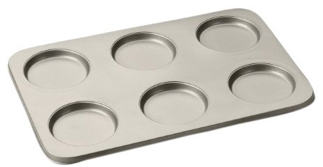 Cuisinart AMB-6MTPCH Chef's Classic Nonstick 6-Cup Muffin Top Bakeware, Champagne