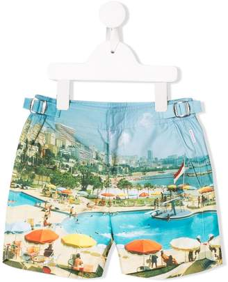 Orlebar Brown KIDS russel photographic shorts