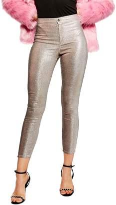 Topshop Lurex Joni Jeans