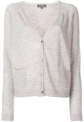N.Peal cashmere patch pocket cardigan