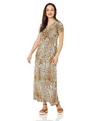 c078b94b0 Star Vixen Women's Petite Short Sleeve Twist-Front Maxi Dress