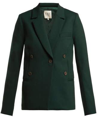 Sea Tradition Technical Fabric Blazer - Womens - Dark Green