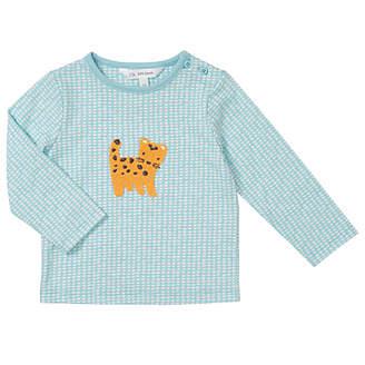 John Lewis Leopard Crochet Applique Top, Blue