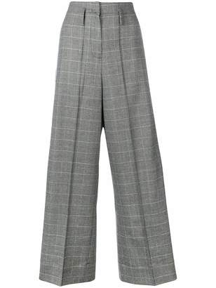 Racil checked wide-leg trousers