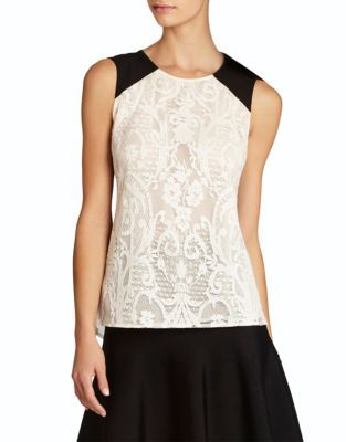 BCBGMAXAZRIA Kaley Sleeveless Lace Top