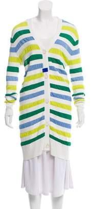 Lela Rose Striped Knit Cardigan