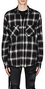 Amiri Men's Plaid Cotton-Blend Shirt - Black