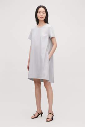 Cos A-LINE SHORT-SLEEVED COTTON DRESS