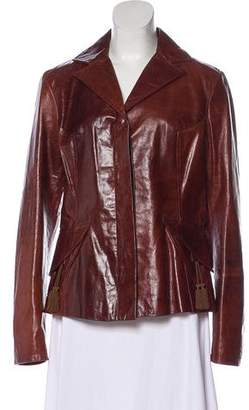 Just Cavalli Leather Boyfriend Jacket