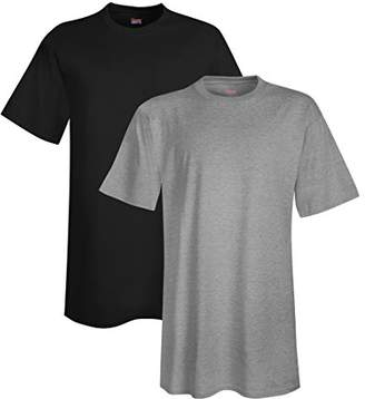 Hanes Men's Tall Short-Sleeve Beefy T-Shirt (Pack Two)