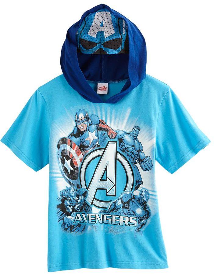 Iron Man The avengers mask hooded tee - boys 4-7