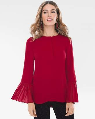 Chico's Chicos Pleated-Sleeve Pullover