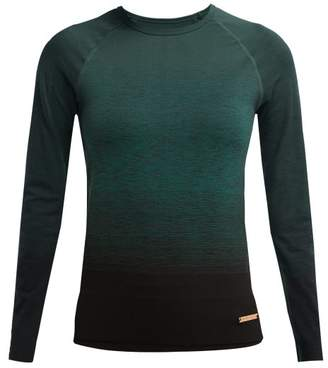 Pepper & Mayne - Goddess Ombre Knit Stretch Performance Top - Womens - Dark Green