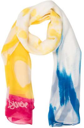Diane von Furstenberg Tie-Dye Print Scarf $65 thestylecure.com